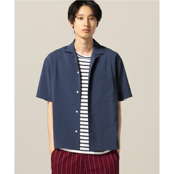 417エディフィス(417 EDIFICE)/メンズシャツ(【追加生産】EVALET オープンカラーショートスリーブシャツ)