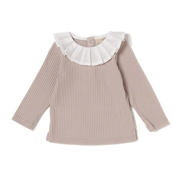 プティマイン(petit main)/衿プリーツTシャツ