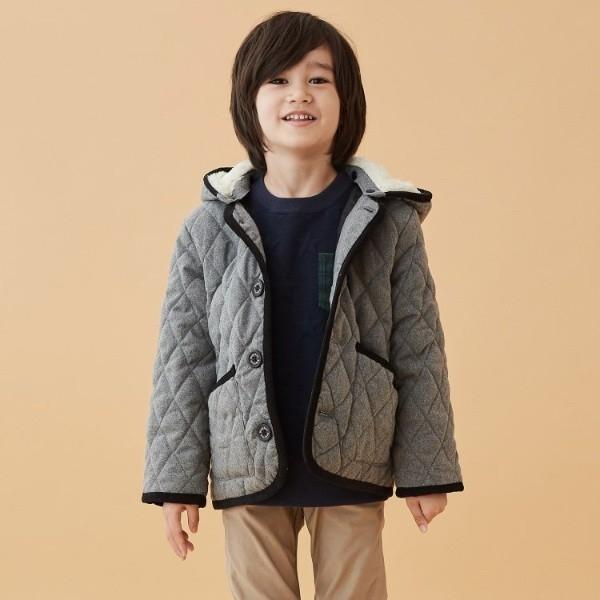 サンカンシオン(キッズ)(3can4on Kids)/コート(【160cmまで】キルティングフーデッドジャケット)