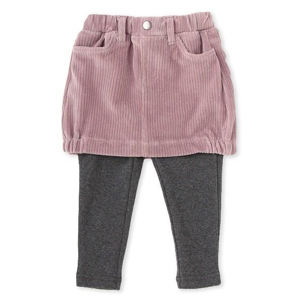 プティマイン(petit main)/レギンスつきコーデュロイスカート