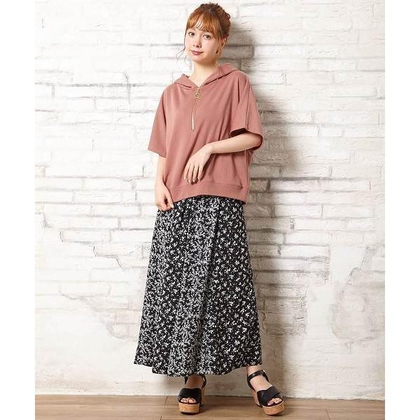 イング(INGNI)/花柄パネル切替ギャザースカート