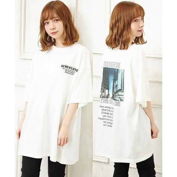 イング(INGNI)/バック転写チュニックTシャツ
