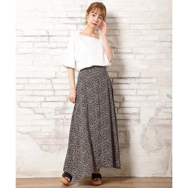 【NEW】イング(INGNI)/小花柄Aラインスカート