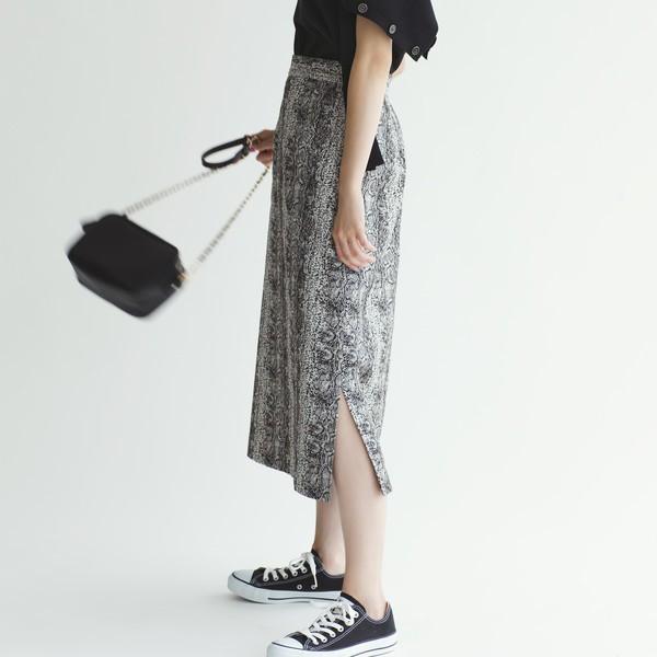 エメル リファインズ(EMMEL REFINES)/SMF パイソンジャカード Iラインスカート