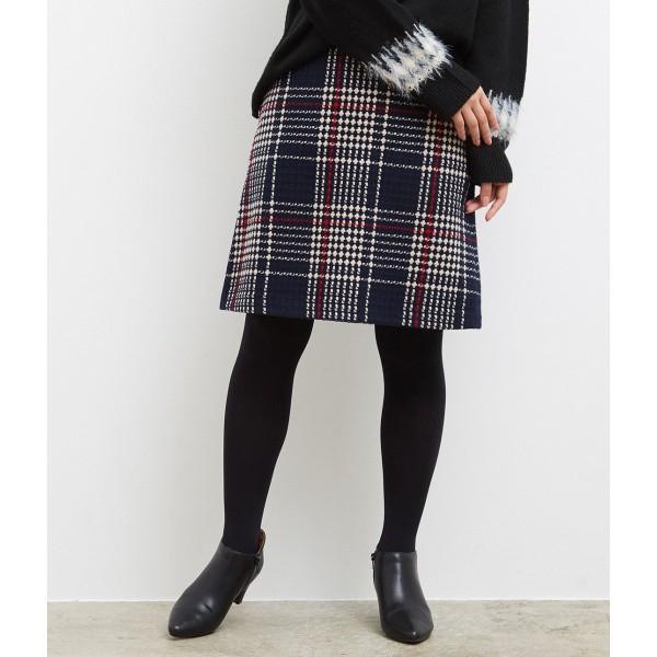 ロペピクニック(ROPE' PICNIC)/ウール混チェック台形スカート