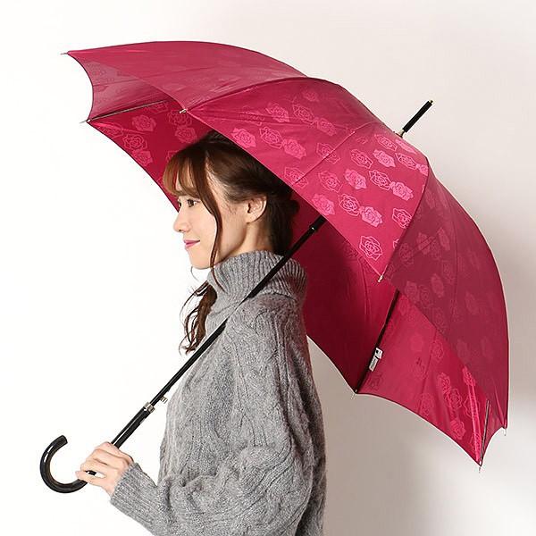 ミラ・ショーン(雑貨)(mila schon)/雨傘 長傘【ジャンプ傘/耐風/グラス骨】 後染/バラ柄/ (レディース/婦人)