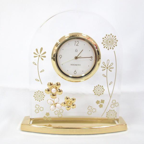 時計 ミキモト 時計 置き時計 クオーツ 白文字盤 ...