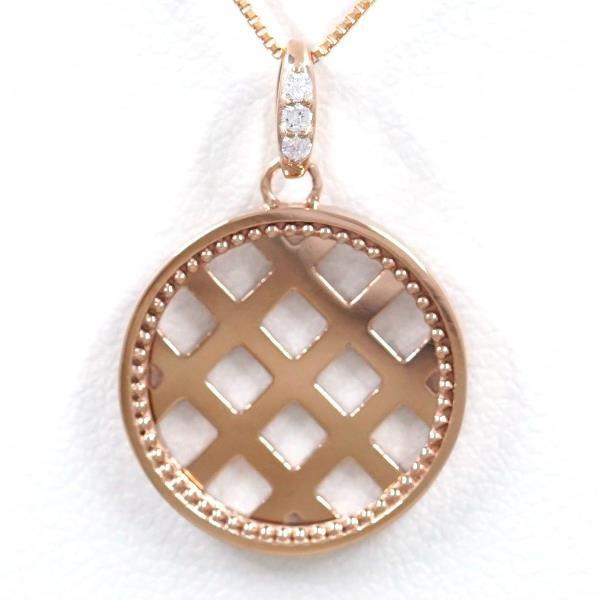 K18 18金 PG ピンクゴールド ネックレス ダイヤ 0...