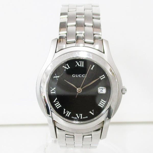 グッチ GUCCI 5500M クオーツ 腕時計 ブラック文...