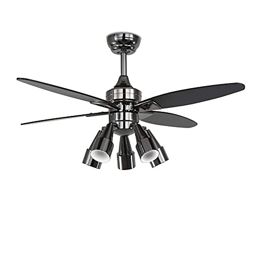 Indoor Ceiling Fan with Lights Modern LED Ceil...
