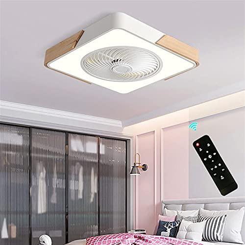 QLIGHA Modern Indoor Flush Mount Ceiling Fan w...