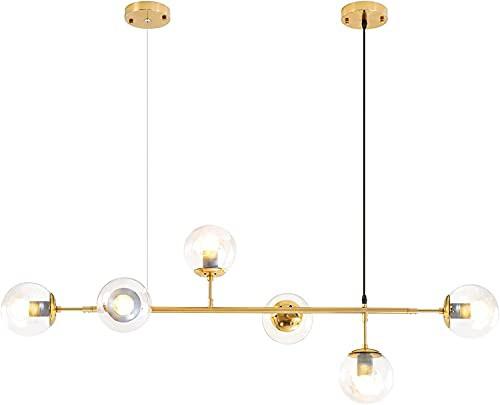 新品Modern Chandelier6 Light Gold Pendant Ligh...