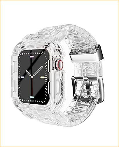 Apple Watch クリアバンド 42mm 44mm ケース付き ...