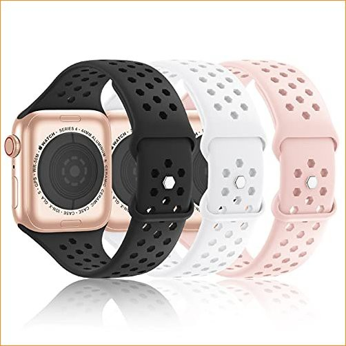 Hehighti 3 Pack Sport Silicone Bands Compatibl...