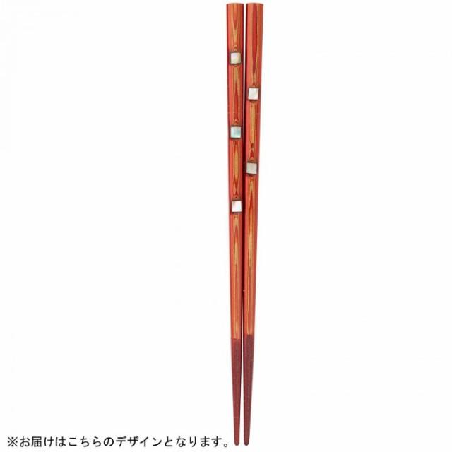 大岸正商店 堆朱金閣 若狭塗箸 中 23cm 038239