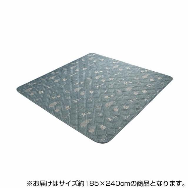 接触冷感 洗える ラグ ペンギン柄 約3畳(約185×2...