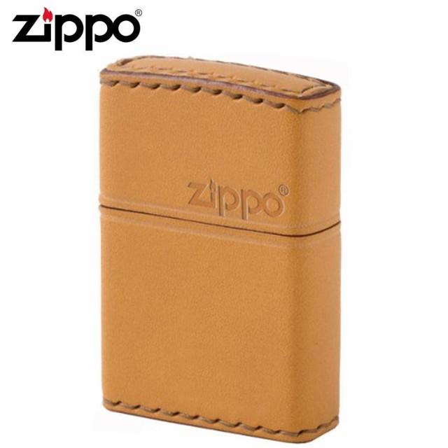 ZIPPO(ジッポー) オイルライター LB-5革巻き 横ロ...