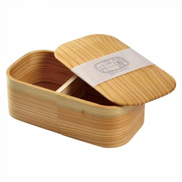 ヤマコー 日本の弁当箱 長角 一段 箱入り 80185