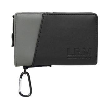 L.R.M 切り替え合皮ミドル財布 CMK-0574 ブラック...