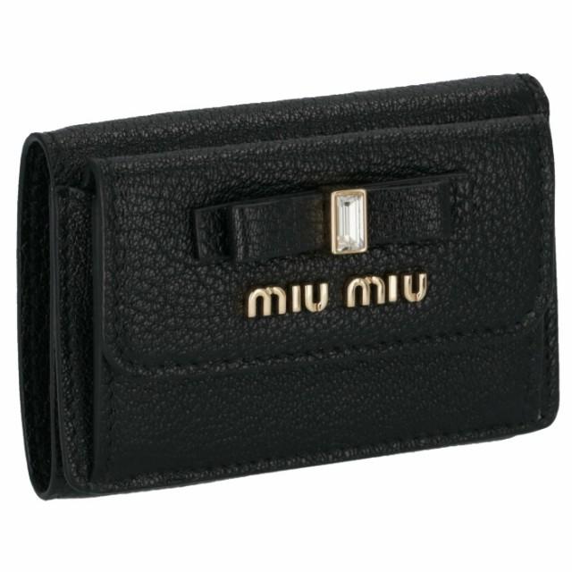 ミュウミュウ MIU MIU 財布 三つ折り ミニ財布 マドラス 三つ折り財布 5MH021 2D7A 002