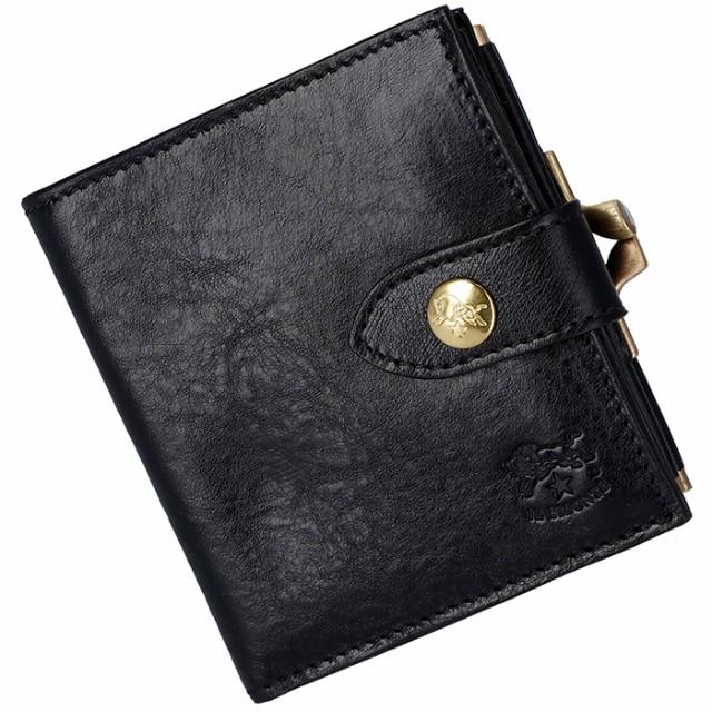 77e9aa4409a2 イルビゾンテ IL BISONTE 財布 がま口 レディース メンズ ミニ財布 二つ折り財布 ブラック C1033 P 153