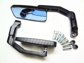 ケイオーパーツ KEIO Parts ミラー関連パーツ 汎用スクエアー(カーボンブラック/ブルーレンズミラー)