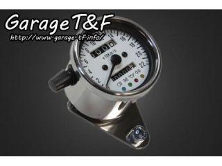 ガレージT&F 機械式ミニスピードメーター(ホワイト) インジケーター内蔵(4TR専用カプラー付き)