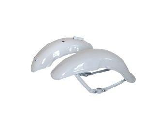 田中商会 初期型ダックスタイプ 鉄カブトフェンダー タイプ1 前後セット カラー:ホワイト