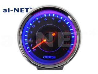 ai-net 電気式タコメーター ブラックパネル 13000...