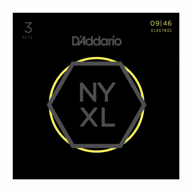 D'Addario NYXL0946-3D エレキギター弦 3セット...