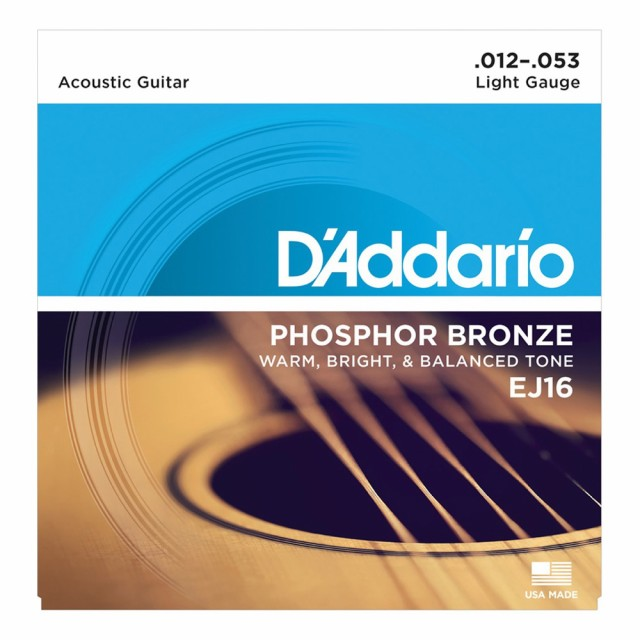 D'Addario EJ16 Phosphor Bronze Light アコース...
