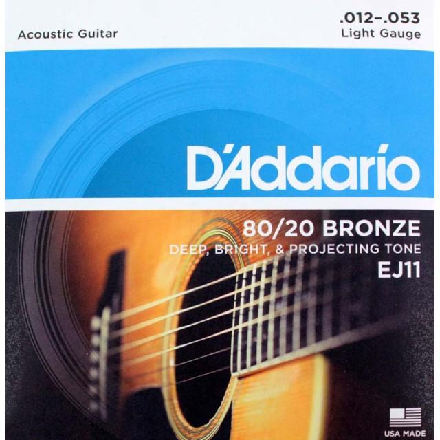 D'Addario EJ11 Bronze Light アコースティック...