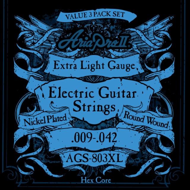 AriaProII AGS-803XL 3セットパック エレキギター...