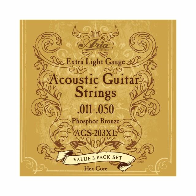 アコースティックギター弦 11-50 3セットパック ...