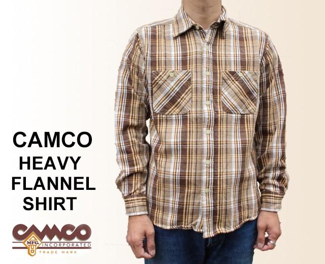 CAMCO カムコ ネルシャツ 2018 茶 ブラウン ヘビ...
