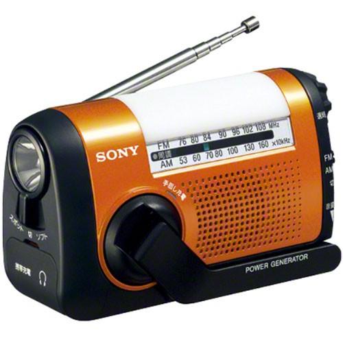 ソニー ICF-B09-D(オレンジ) FM/ワイドFM/AMポー...