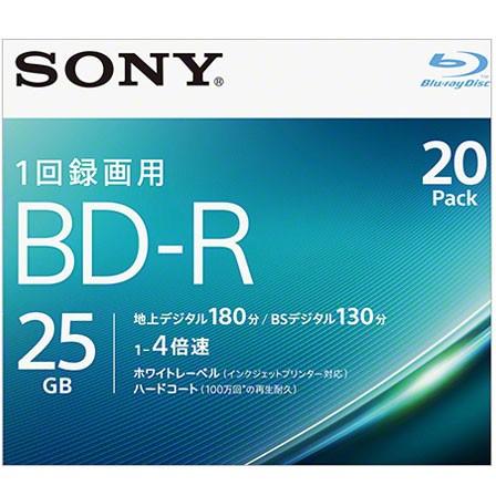 ソニー 20BNR1VJPS4 録画・録音用 BD-R 25GB 一回...