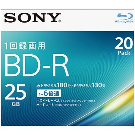 ソニー 20BNR1VJPS6 録画・録音用 BD-R 25GB 一回...