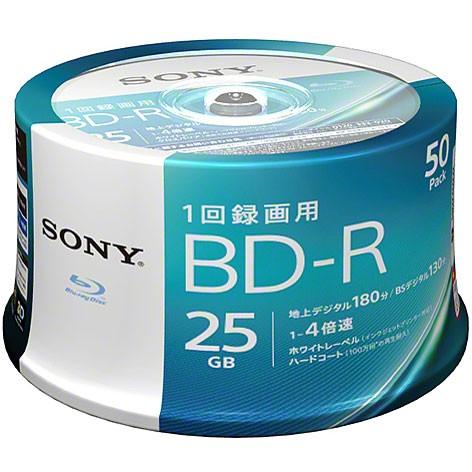 ソニー 50BNR1VJPP4 録画・録音用 BD-R 25GB 一回...