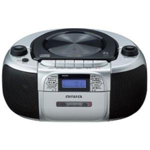 AIWA CSD-M20(シルバーxブラック) CDラジオカセッ...