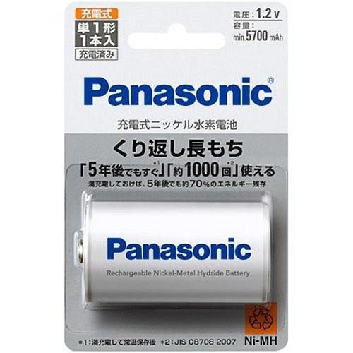 パナソニック BK-1MGC/1 ニッケル水素電池 単1形 ...