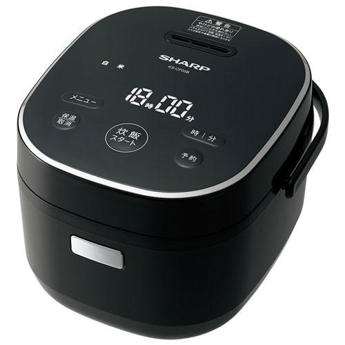 シャープ KS-CF05B-B(ブラック) ジャー炊飯器 3合...