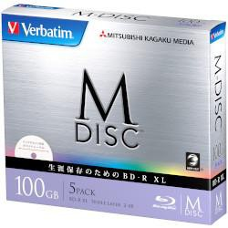 Verbatim Verbatim DBR100YMDP5V1 BD-R XL 4倍速 ...