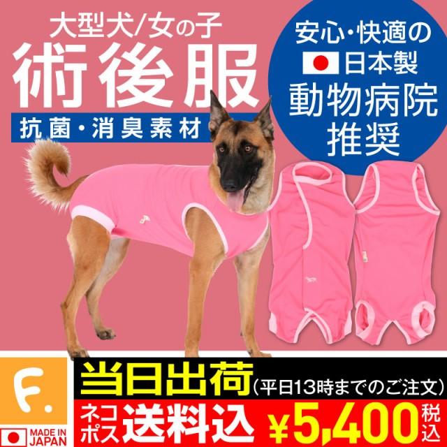 【エリザベスカラーの代わりになる】獣医師推奨 犬用術後服エリザベスウエア(R)(女の子 雌/大型犬用)【メール便不可】