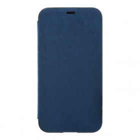 Ultrasuede Flip Case for iPhoneX Blue