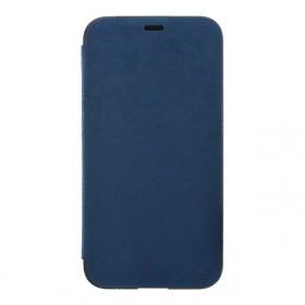 Ultrasuede Flip Case for iPhoneX Blue
