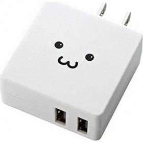 スマートフォン・タブレット用AC充電器/2A出力/2...