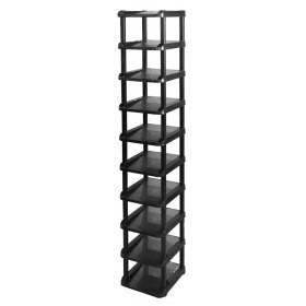 シューズラック 組立式 10段 ブラック | タワー ...