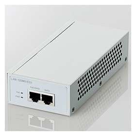 1000BASE-T対応 PoEインジェクタ 2ポート Data/Da...
