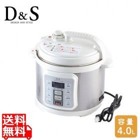 D&S 電気圧力鍋 4.0L | レシピ 圧力なべ 正規品 ...